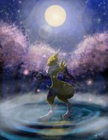 Moonlight Renamon by Watchowl