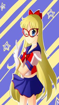 Sailor V! (iPhone 5 dimensions! ) by Caroline-chan5