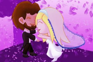 Happy Couple By Sirenightsparrow by IsellaHowler