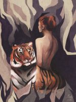 Faceless Tigress by Whimsnicole