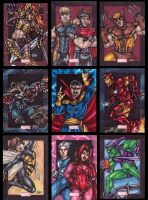 Marvel 75th Anniversary card set preview by dixey