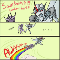 Starscream's magic heels by metamorro