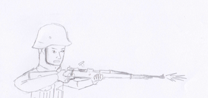WWII German Nazi troopers, step 1 by RageRex