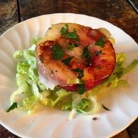 Grilled White Nectarine with Lardo by chef-chad