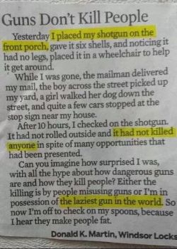 Guns dont kill people. by TheFunnyAmerican