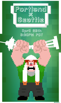Seattle Vs Portland Game Day Poster: Wreck'em by caseharts