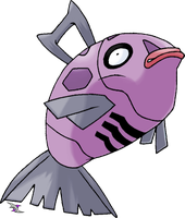 Feebas v.2 Shiny Coloration by Xous54