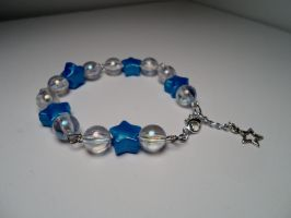 Star Bracelet Blue and Clear by Ladyofchibi
