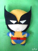 Chibi Plushies: Wolverine by Red-Flare