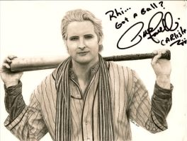 autographed Carlisle drawing by Dragonsanddaffodils