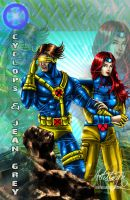 jean grey and cyclops by artistmyx