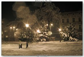 Winter in the city by Mirek-Z