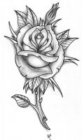 BG Rose Tattoo by vikingtattoo