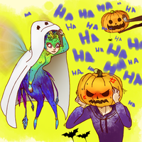 RotG:  pumpkin-stuck 2 by hyokka