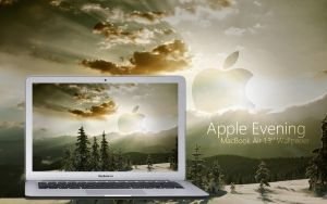 MacBook Air Apple Evening Wall by Martz90