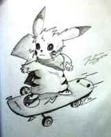 Skating Pikachu~ by Dhruvkrishnan