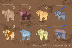 Adoptable baby mammouths (1 LEFT) by Aquene-lupetta
