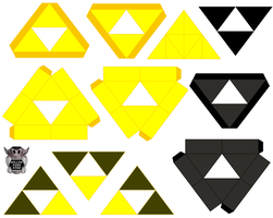 Triforce's by hollowkingking