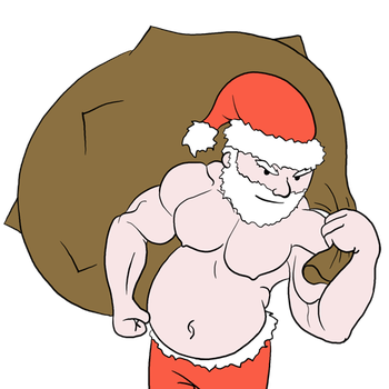 Santa With Muscles by bwritter