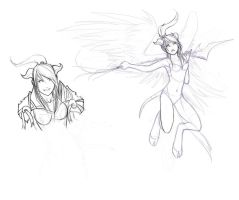 Throwback Friday? - Draenei Paladin Sketches by laceybrannen
