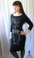 Skeleton Wiggle Dress 2 by smarmy-clothes