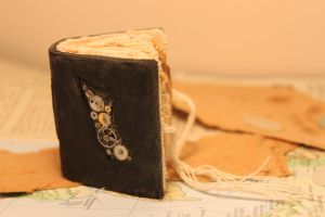miniature steam punk style book/journal.open by izibel1