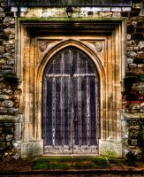 Church door by Textures-and-More