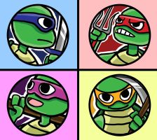 Ninja Turtles 1 inch button design by puppyShaker