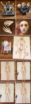 Making My 1st Ball Jointed Doll Part 9 by ajldesign