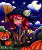 Halloween Colouring Contest by Mareishon