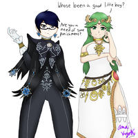 Doms of Sm4sh - Bayonetta and Palutena by japanese-demon