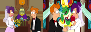 Fry and Leela's Wedding (Futurama) by dlee1293847