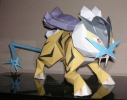 Papercraft attempt 1 - Raikou by Saiph-Charon