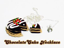 Chocolate Cake Necklace by kuchie