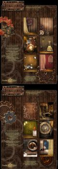 Steampunk Backgrounds by cosmosue