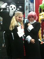 Anime Expo 2012 Maka, Lord Death, and Crona by Fainting-Ostrich