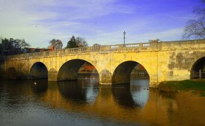 Wallingford Bridge in Oxfordshire England by MarmaladePrints