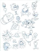 Some Mario enemies by greliz