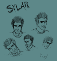 Sylar expressions sketches by Phoenix-Cry