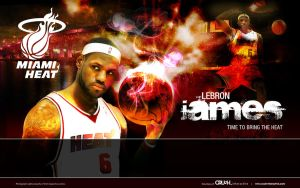 Lebron James - Miami Heat by snapper1200