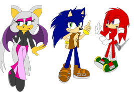 Rouge,Sonic,Knuckles 20 YRS Later by XRainbowIceCreamX