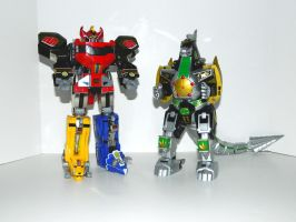 Megazord and Dragonzord by LinearRanger
