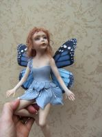 comissioned fairy has wings by Belgiandollmaker