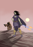 Barriss on Tatooine by lordhadrian