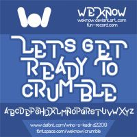 crumble font by weknow by weknow