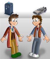Sixth Doctor meets Marty McFly by TheSharkMaster