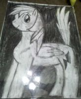 Drawing 1 Final project: Rainbow Dash by TheHope18