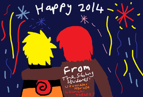 Happy 2014 from the Sibling students by Fran48