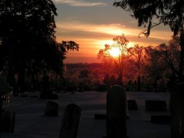 Cemetery Sundown by colts4us