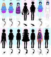 Q Outfits (The Grown Up Game) 2 by ChosenVowels